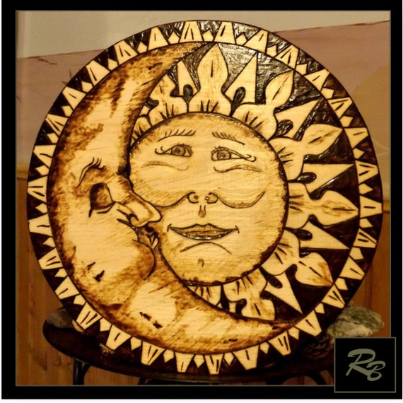 sun and moon art celestial art sun and moontree of life