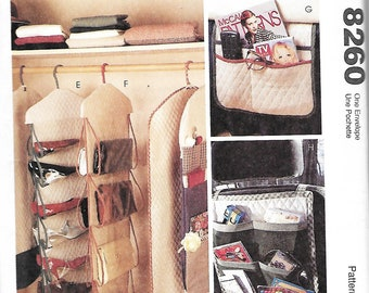 McCall's 8260 Closet Organizers, Garment Bags, Gift Wrap Storage, Etc. Sewing Pattern, UNCUT