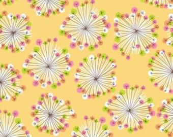 "ON SALE! Studio e Fabrics ""Blooms & Burst"" Flower Burst in Yellow"