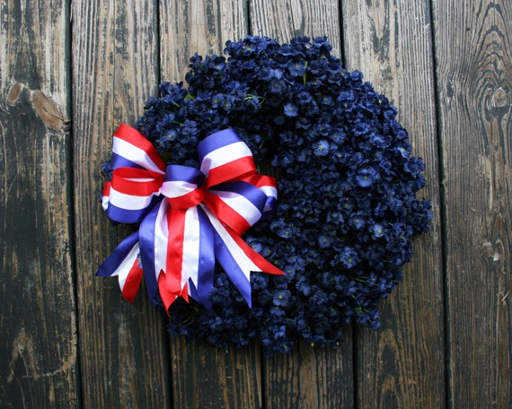 Patriotic Wreath, Memorial Day Wreath, 4th of July Wreath