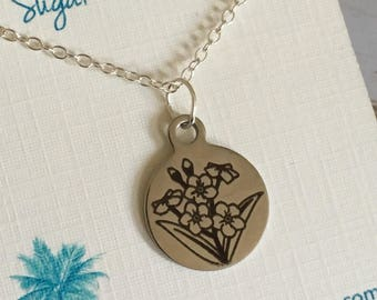 Forget-me-not Flower Necklace