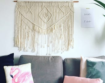 SALE | Boho Macrame Wall Hanging | Large Copper Wall Decor | Wall Tapestry | Modern Macrame | Boho | Macrame Tapestry | Wall decor
