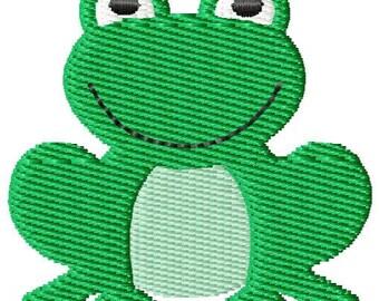 Frog 2 Mini Machine Embroidery Design