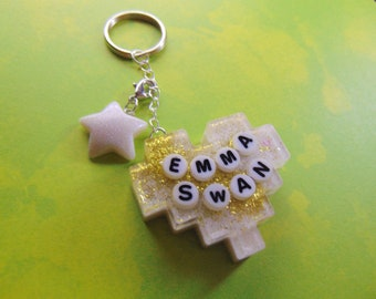 """Emma Swan """"Once Upon a Time"""" Keychain + charm"""
