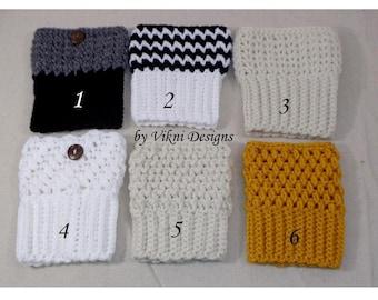 Crochet Boot Cuffs, 6 Choices Boot Socks, Womens Boot Cuffs by Vikni Designs