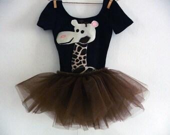GIRAFFE TUTU - Giraffe Leotard - Birthday Tutu - Zoo Party Tutu - Zoo Birthday - Personalized - Toddler Tutu