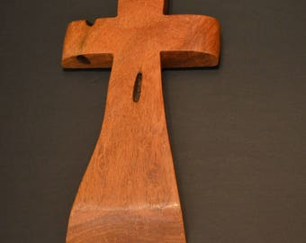 """Wood Cross; Christian Gift; Home Decor; Wood Gifts; Wedding Gift; Sympathy Gift; Mesquite 5""""x9""""x1""""; Free Ground Shipping USA; cc20-1040116"""