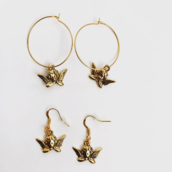 The Cherub Earrings In Gold by Etsy
