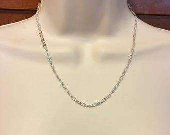 Long Silver Chain Available in Three Lengths 18 Inch, 22 Inch, or 27 Inch, Adjustable Chain 5mm Wide, Minimalist Silver Chain