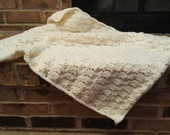 Shell Stitch - Crocheted Mini Blanket - Photo Prop