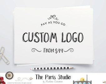 Pas une conception de Logo Premade - Pay As You Go site Logo Logo Design Blog aquarelle Logo Design Vintage Logo Design Boutique Logo création de Logo