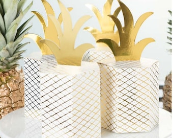 Fancy Pineapple Favor Boxes / Pineapple Boxes / Pineapple Party / Summer Party Favor Boxes