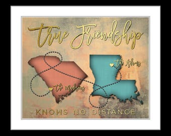 Birthday Present For BFF Sister Besties Best Friend Personalized Gifts Ideas Friendship Quote Friends Forever Going Away Valentines Day