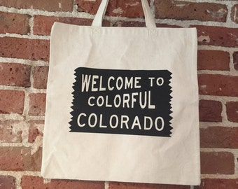 Welcome to Colorful Colorado tote - bulk order 60 bags