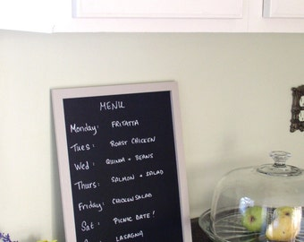 Kitchen Menu Chalkboard 11 x 15 solid wood frame and back - Family To Do List - Eco-Friendly Blackboard Sandwich Board