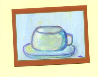 Let's Have Coffee Fine Art Blank Note Card