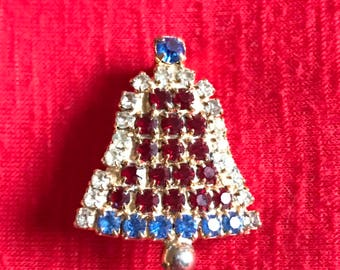Patriotic Bell Brooch