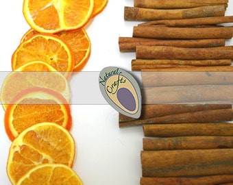 Dried Orange Slices and Cinnamon Sticks - perfect for Christmas Decorations