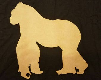 Gorilla Wood Cutout, Laser Cut, Zoo Animal Shaped, DIY Unfinished, Crafters, Paint Your Own by Liahona Laser on Etsy