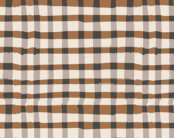 Farmhouse Nursery Neutral Crib Bedding - Fitted Crib Sheets /Mini Crib Sheet /Changing Pad Cover Brown Check / Modern Bedding
