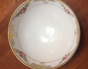 Hand Painted Nippon Small footed Bowl
