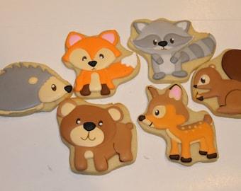woodland animal cookies (12)