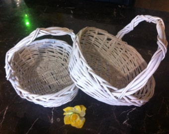 Two Vintage Decortive Baskets