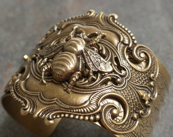 Honey Bee Jewelry Brass Cuff Bracelet