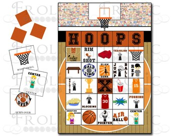 Basketball Bingo 10 Printable Cards INSTANT DOWNLOAD