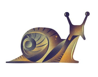 Snail Print - Archival Digital Print - 11x14 or 16x20
