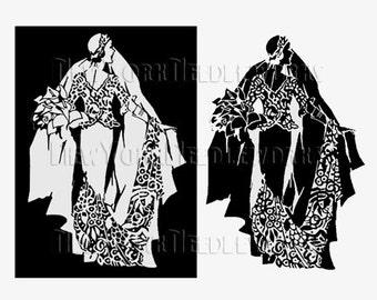 Art Deco Bride Cross Stitch, Bride Cross Stitch, Cross Stitch, Bridal Pattern, Brides, Silhouettes, Art Deco from NewYorkNeedleworks on Etsy