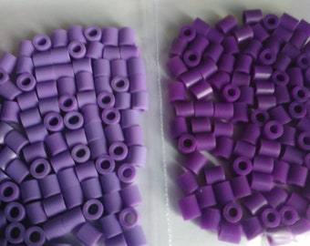 set of 100 beads pixel color purple, mauve, purple