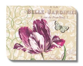 Floral paper napkin serviette for decoupage (cocktail)  x 1 Tulipa No 1294