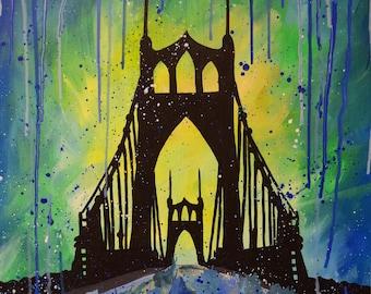 St Johns Bridge (Print)