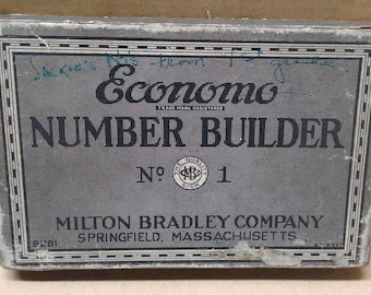 Economo Number Builders Antique Fifties Vintage Math Class School Education Collectible