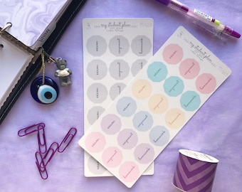 Student Stickers, Exam Stickers, Assignment Stickers, Homework Stickers, Bujo Stickers, Functional Stickers, College Stickers, Matte Sticker