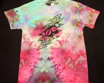 13-Point Bolt/ Pirate Bear Grateful Dead Shirt TieDye (M)