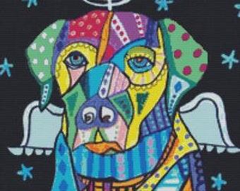 Cross Stitch Kit 'Labrador Retriever Angel' By Heather Galler - Dog Needle Craft Kit