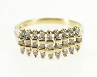 10k 0.30 Ctw Diamond Tiered Look Wedding Band Ring Gold