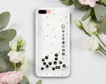 Susuwatari Phone Case, iPhone 5S Case, iPhone 6S Plus, iPhone 7 Case, iPhone 8 Plus Case, Samsung Galaxy S8 Case, Samsung Galaxy S7 Case