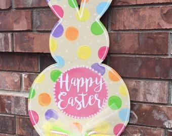 Easter Door Hanger, Easter Bunny Door Hanger, Easter Wreath, Easter Bunny Wreath, Spring Door Hanger, Easter Decor, Spring Wreath, Door Hang