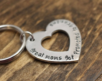 Gift for Grandma - Pregnancy Reveal Mother's Day Gift New Grandma Idea personalized gift hand stamped keychain custom gift
