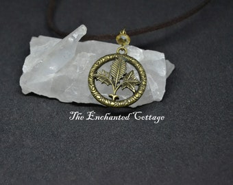 Bronze Three Leaf Necklace~ Pagan Necklace~ Wiccan Jewelry~ Magickal Trinket~ Witchy Bauble~ Celtic Jewelry