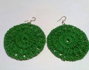 Crochet earrings made with love by my mom and I added #.925 #silver #earring #findings only pair made in this color