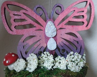 Crystal Butterfly mobile
