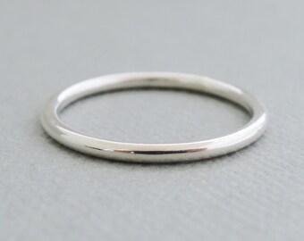 Plain Silver Ring Band 14 gauge Thumb Ring Stacking Ring