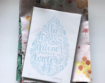 """4.75""""x7"""" The Grass Is Greener 