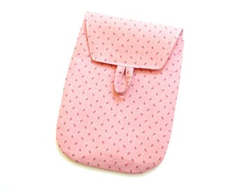 Diaper bag, pouch, nappy bag, pink roses, diaper case, fold over bag, baby shower gift