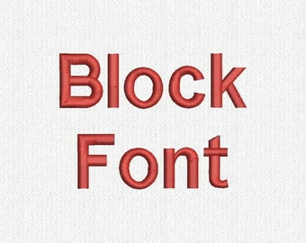 Block Embroidery Font