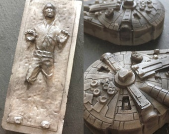 Star Wars soap set - Solo - gift for him  - Millennium Falcon - Han Solo soap - May the Force be with you
